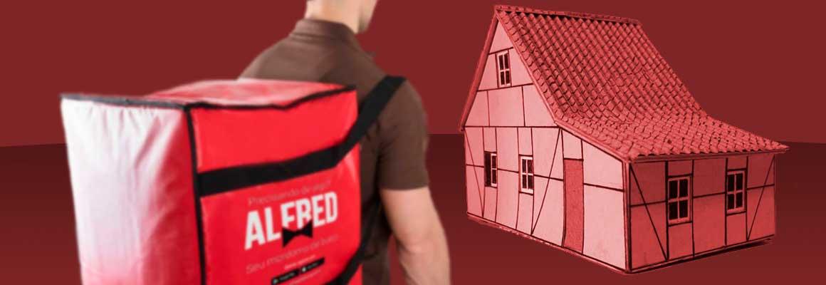 Entrega Rápida e Segura dos Lanches Rudnick em sua Casa com o uso do Aplicativo de Delivery Alfred